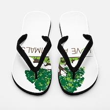love all animals Flip Flops