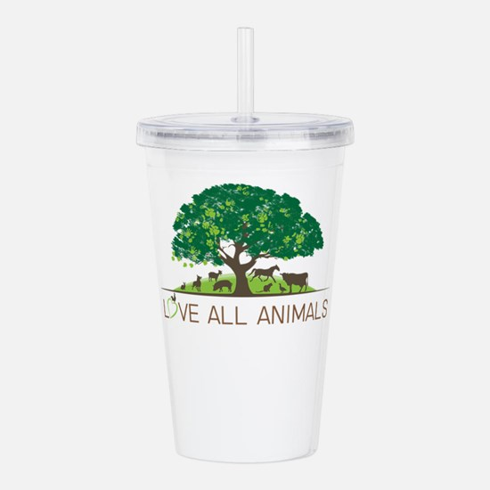 love all animals Acrylic Double-wall Tumbler