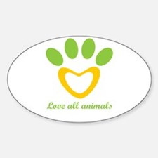 love all animals Decal