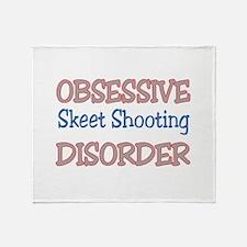 Obsessive Skeet shooting disorder Throw Blanket