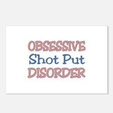 Obsessive Shot Put disord Postcards (Package of 8)