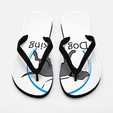 dog walking Flip Flops