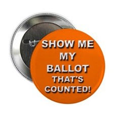 "SHOW ME MY BALLOT - Orange 2.25"" Button"