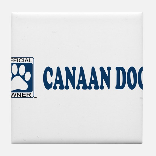 CANAAN DOG Tile Coaster