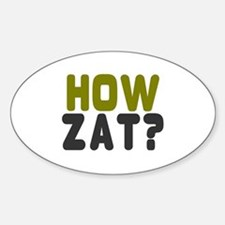 CRICKET - HOW ZAT - OUT!! Decal