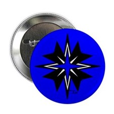 "Tribal Blue 2.25"" Button (10 pack)"