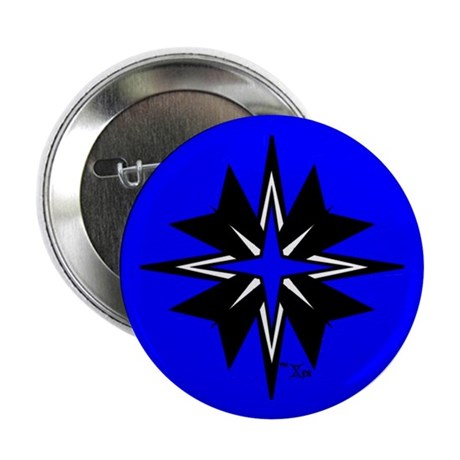 "Tribal Blue 2.25"" Button (100 pack)"