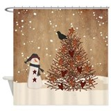 Country christmas Shower Curtains