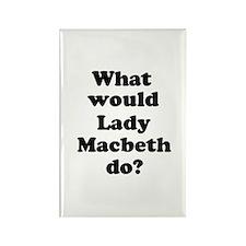 Lady Macbeth Rectangle Magnet