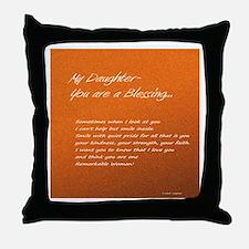 Remarkable Daughter Throw Pillow