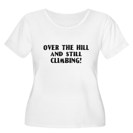 Over the Hill Birthday Women's Plus Size Scoop Nec