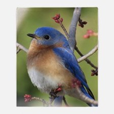 Red Bud Bluebird Throw Blanket