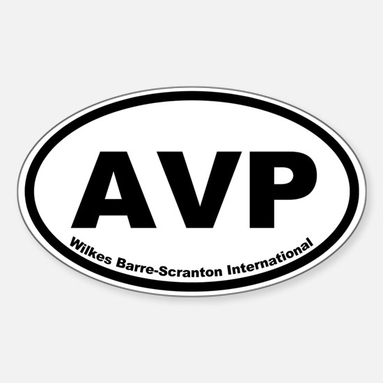 Wilkes Barre-Scranton International Oval Decal