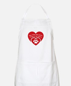 dogs leave paw prints forever on uor hearts Apron