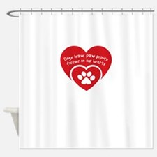 dogs leave paw prints forever on uo Shower Curtain