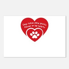 dogs leave paw prints for Postcards (Package of 8)
