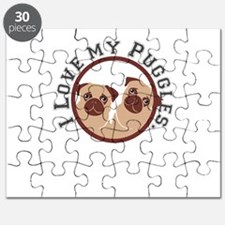 i love my puggles Puzzle