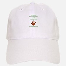 RESCUE the mistreated SAVE the injured LOVE th Baseball Baseball Cap