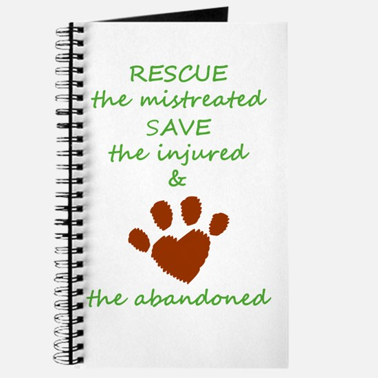 RESCUE the mistreated SAVE the injured LOV Journal