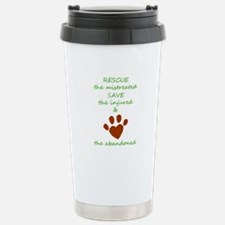 RESCUE the mistreated S Stainless Steel Travel Mug
