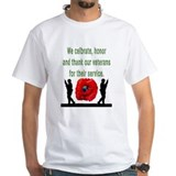 Red poppy Mens Classic White T-Shirts