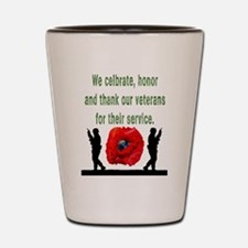 Funny Military thank you Shot Glass