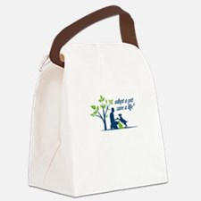 adopt a pet - save a life Canvas Lunch Bag