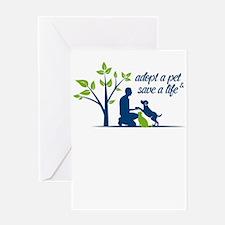 adopt a pet - save a life Greeting Cards