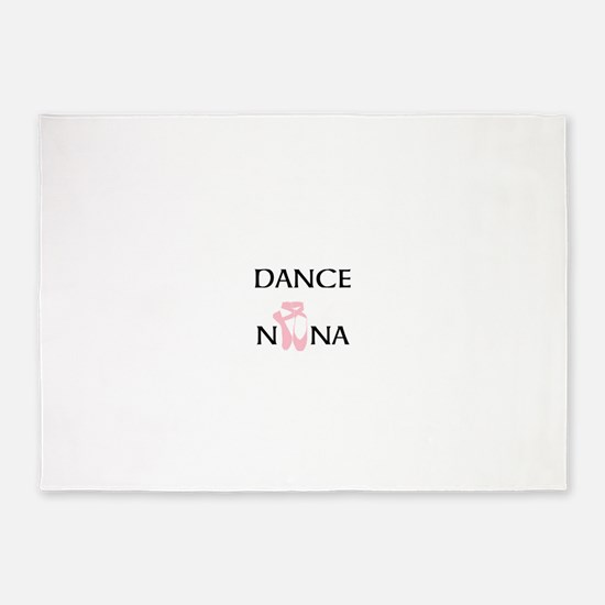 Dance Nana Pointe Pink 5'x7'Area Rug