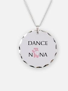Dance Nana Pointe Pink Necklace Circle Charm
