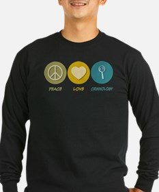 Peace Love Criminology Long Sleeve T-Shirt
