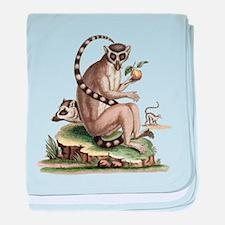 Lemur Artwork baby blanket
