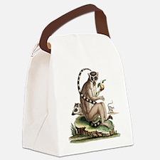 Lemur Artwork Canvas Lunch Bag