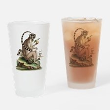Lemur Artwork Drinking Glass