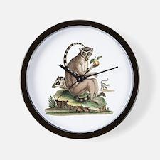 Lemur Artwork Wall Clock