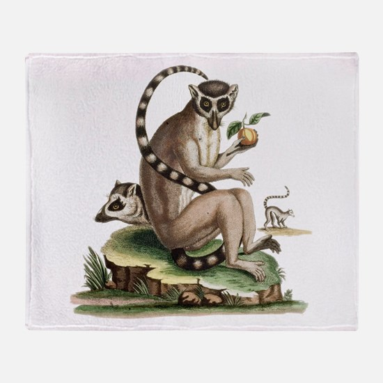 Lemur Artwork Throw Blanket