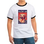 Obey the Yellow Lab! USA Ringer T