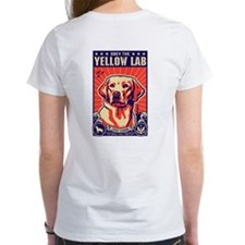 Obey the Yellow Lab! 2-sided Tee