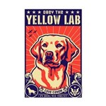 Obey the Yellow LAB! USA Mini Poster Print