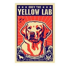 Obey the Yellow Lab! USA Postcards (Pack of 8)