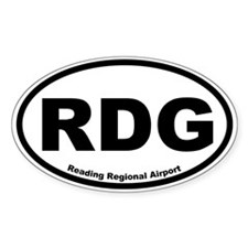 Reading Regional Airport Oval Decal
