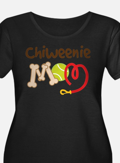 Chiweenie Dog Mom Plus Size T-Shirt