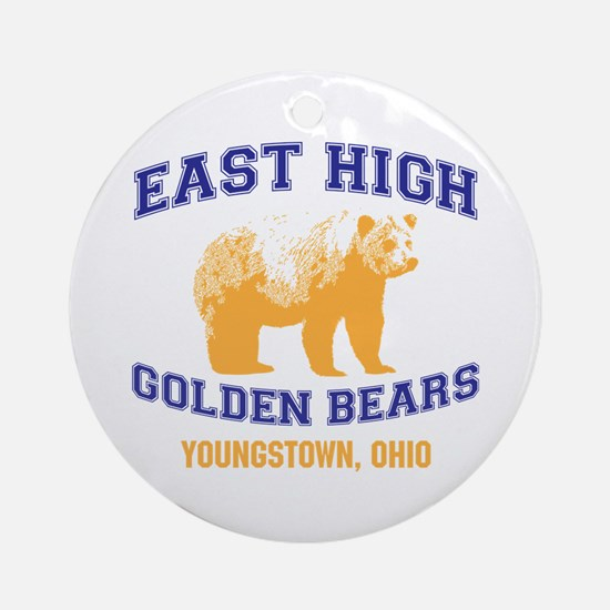 East High Golden Bears Round Ornament