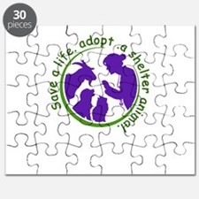 save a life, adopt, a shelter animal Puzzle
