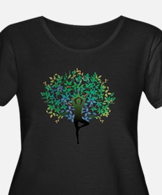Yoga Tree Pose New Plus Size T-Shirt