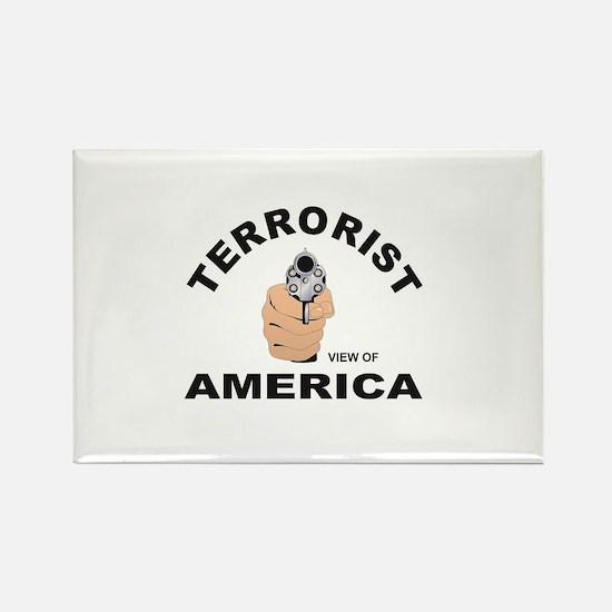 terrorist look at america Magnets