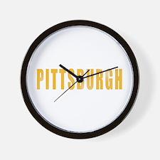 Funny Pittsburgh yinz Wall Clock