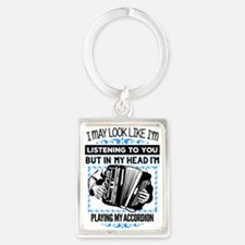 Cute Accordion Portrait Keychain