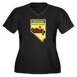 Nevada Ranger Women's Plus Size V-Neck Dark T-Shir