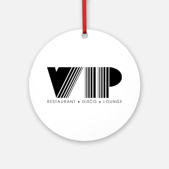 VIP Disco Round Ornament
